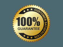 100% customer satisfaction guarantee